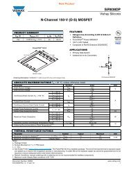 SiR838DP N-Channel 150-V (D-S) MOSFET