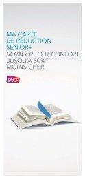 ma carte de réduction senior+. voyager tout confort - SNCF.com