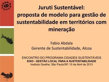 Eixo Gestão Local para a Sustentabilidade - Programa Cidades ...
