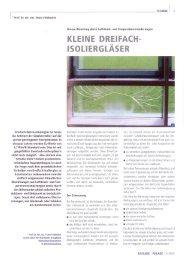 Klimalasten bei Dreifach-Isolierglas - Isolierglas-Center.de