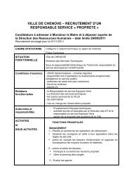 ville de chenove – recrutement d'un responsable service « proprete