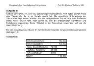 Übungsaufgaben International Taxation I
