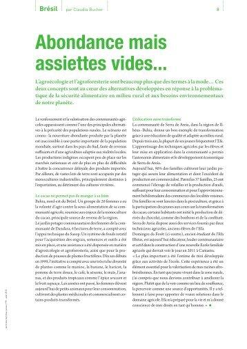 Journal TdH n° 99, p.8-9 - Terre des Hommes Suisse