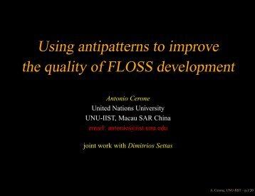Slides - OpenCert - United Nations University