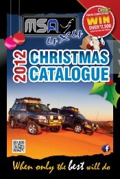 Msa4x4 christmas catalogue 2012