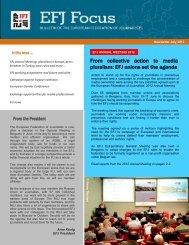 efj focus en - Europe - International Federation of Journalists