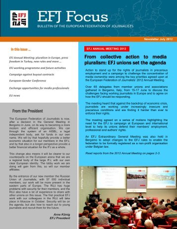 efj focus en - Europe - International Federation of Journalists