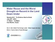 Water Reuse and the Worst Drought on Record in the Land Down ...