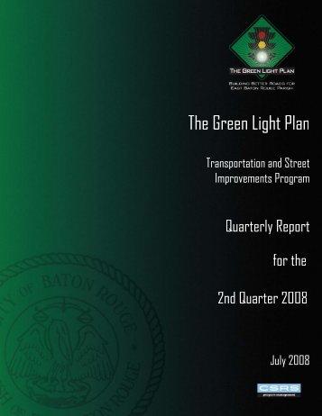 Green Light Plan 2008 2nd Quarter Report - The Green Light Plan