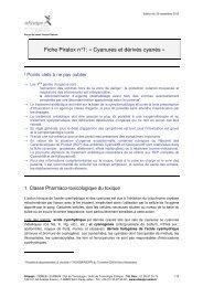 Fiche Piratox n°1: « Cyanures et dérivés cyanés » - SRLF