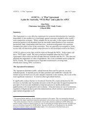 WTO Plus - Australian APEC Study Centre