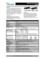 HDMI 4x4 Matrix Switch 500415 - eANIXTER