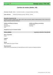 Carrière de marbre (Saillon, VS) - admin.ch