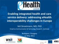 addressing eHealth interoperability challenges in Europe