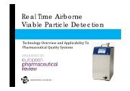 Real Time Airborne Viable Particle Detection - European ...