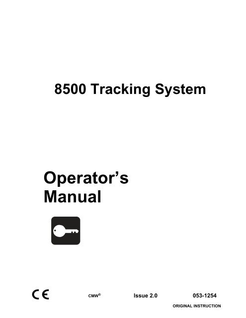 Operator's Manual - Ditch Witch