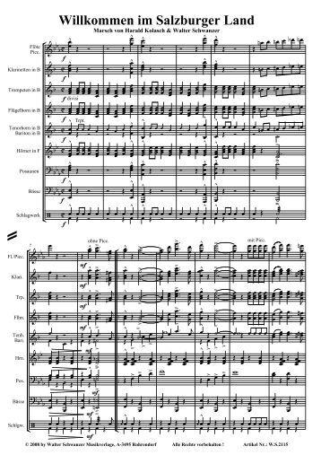 Willkommen im Salzburgerland .pdf - Walter Schwanzer Musikverlage
