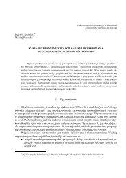 Zarys obiektowej metodologii analizy i projektowania ...