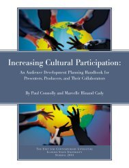 Increasing Cultural Participation: - The Wallace Foundation