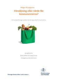 Försäljning eller värde för konsumenterna? - Företagsekonomiska ...