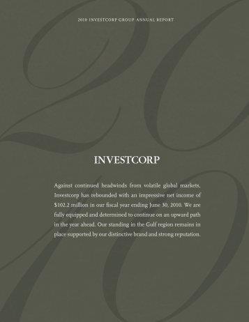 2010 annual report - Investcorp.com
