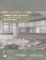 Multiculturalism in Communities A Guide to ... - WelcomeBC