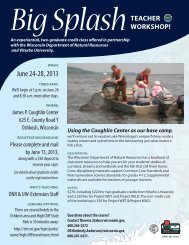 big splash flyer_DNR - Wisconsin Department of Natural Resources ...