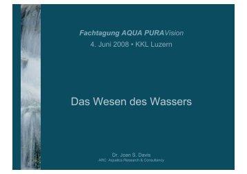 Das Wesen des Wassers - AQUA PURAVision