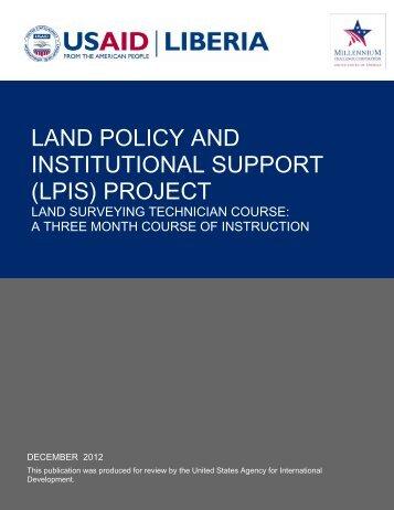 LPIS Land Surveying Technician Course Curriculum - Land Tenure ...