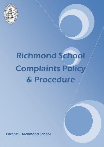 Complaints Policy & Procedures - Richmond School
