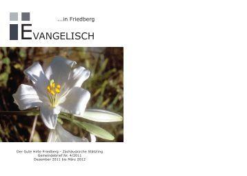 Ausgabe 4-2011 - Evangelisch-Lutherische Kirchengemeinde ...