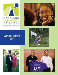 AnnuAl RepoRt 2011 - Maryland Humanities Council