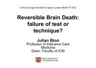 Julian Bion Reversible Brain Death - Organ Donation