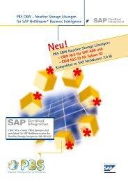 PBS CBW - Nearline Storage Lösungen für SAP NetWeaver ...