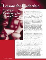 Lessons for Leadership SERVICE SUCCESS - Smiklespeaks