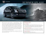 Cadillac Summer Splash Promotion