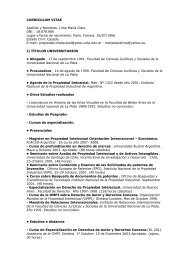 Currículum Vitae - Universidad Nacional de La Plata