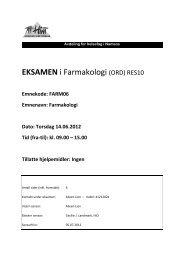 EKSAMEN i Farmakologi (ORD) RES10