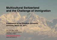 Multicultural Switzerland and the Challenge of ... - Wolf Linder