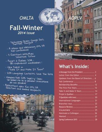 OMLTA-Fall-Winter-2014