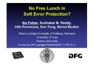 No Free Lunch in Soft Error Protection?