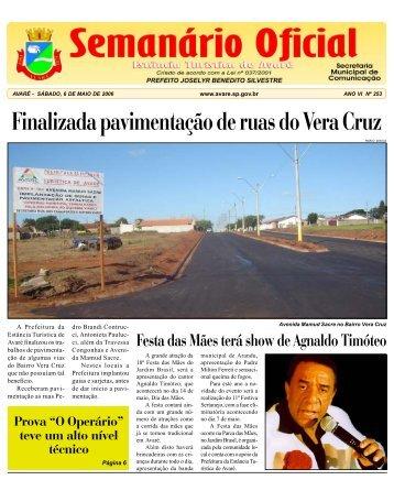 Finalizada pavimentação de ruas do Vera Cruz - Câmara Municipal ...