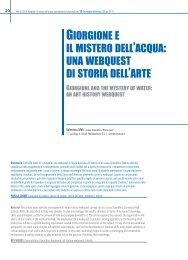 Giorgione e il mistero dell'acqua: una webquest di storia dell'arte