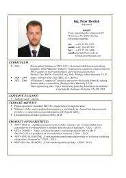 Ing. Peter Horňák - Ústav materiálového výskumu SAV