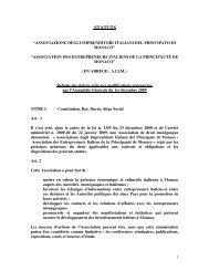 STATUTS - Associazione degli Imprenditori Italiani del Principato di ...