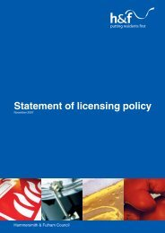 Statement of licensing policy - Meetings, agendas and minutes