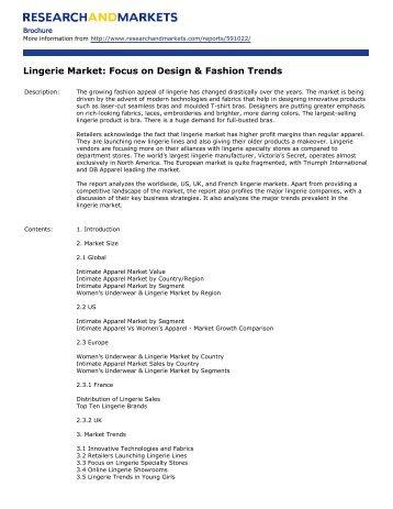 Lingerie Market: Focus on Design & Fashion Trends