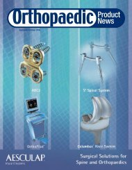 ANNUAL REPORT THE ORTHOPAEDIC INDUSTRY - Orthoworld