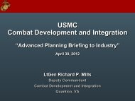 Changes in the Requirements Command - Defense Innovation ...