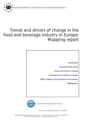 Trends and drivers of change in the food and beverage industry in ...